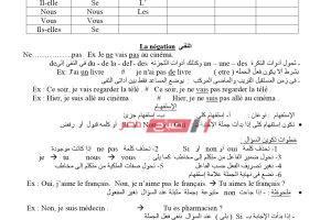 مراجعة ليلة الامتحان النهائية فرنساوي الثانوية العامة 2020