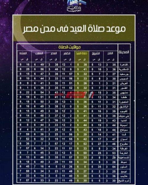 موعد صلاة عيد الأضحى المبارك