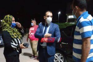 نائب محافظ دمياط يتفقد شوارع قرية العنانية لمتابعه الالتزام بالضوابط والاجراءات الاحترازية