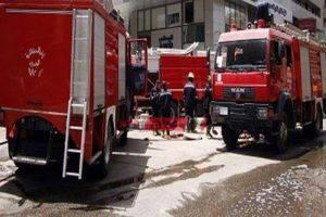 اندلاع حريق بمنطقة طوسون بالقرب من التأمين الصحي بالإسكندرية