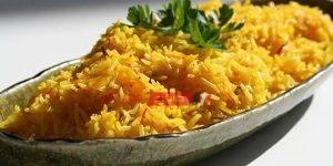 ارز الكركم بحليب جوز الهند