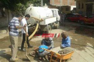 محافظة بورسعيد تواصل أعمال تطهير بلوعات المطر استعدادا لموسم الشتاء