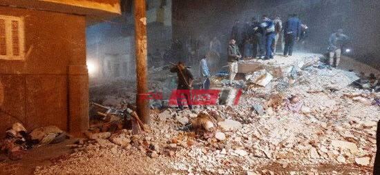 انهيار منزل مأهول بالسكان فى أسيوط