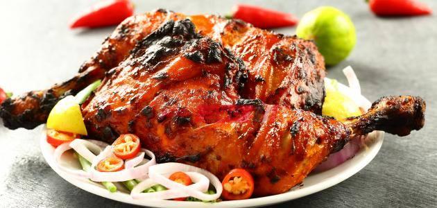 اوراك الدجاج التندوري علي الطريقة الهندية