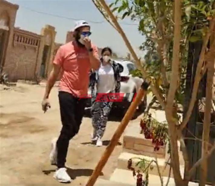 ايمي وحسن الرداد من مقابر سمير غانم