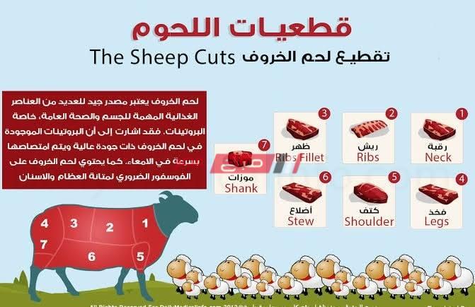 أنواع اللحم المختلفة